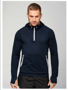 Sweat-shirt sport à capuche homme/femme